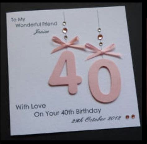 40th Birthday Card Ideas 25 Best Ideas About 40th Birthday Cards On Pinterest