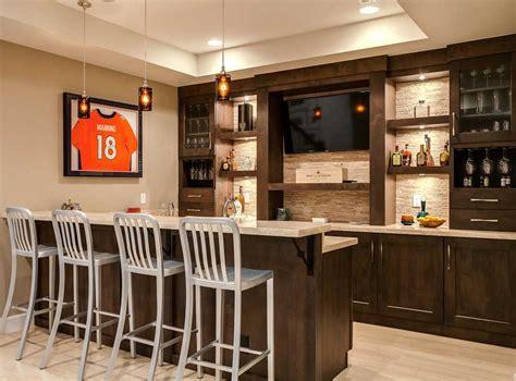 stunning transitional home bar ideas