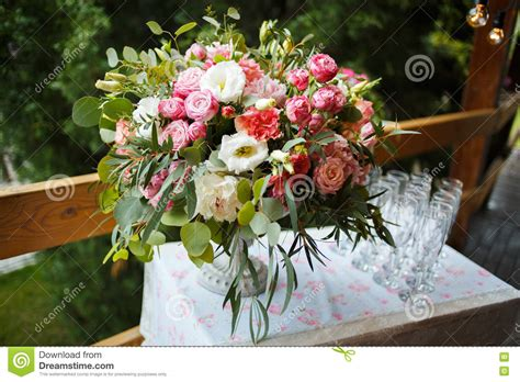 stunning pink peonies greens white roses centerpiece beautiful floral arrangement of pink and white peonies