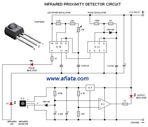 outdoor motion sensor schema diagram electronic circuit