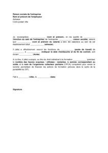 Exemple De Lettre Justifiant Une Absence Mod 232 Le De Certificat De Travail Mod 232 Le De Lettre Gratuit Exemple De Lettre Type Documentissime