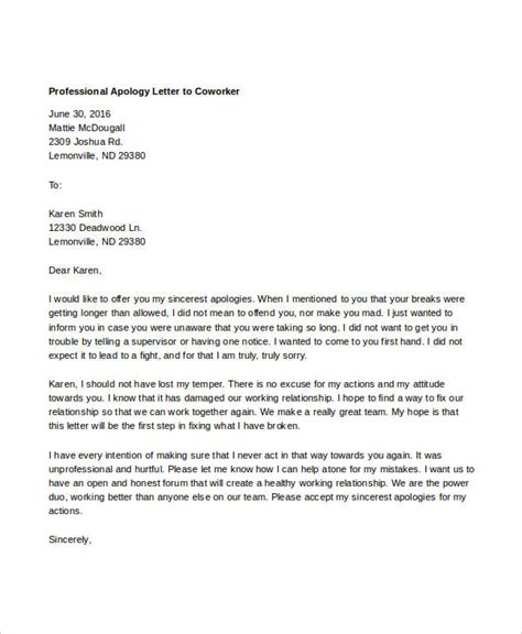 business letter to apology professional apology letter 17 free word pdf format
