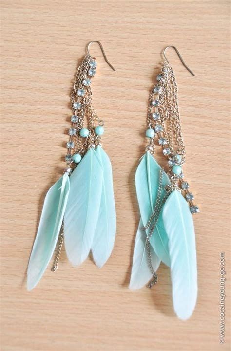best 25 feather earrings ideas on