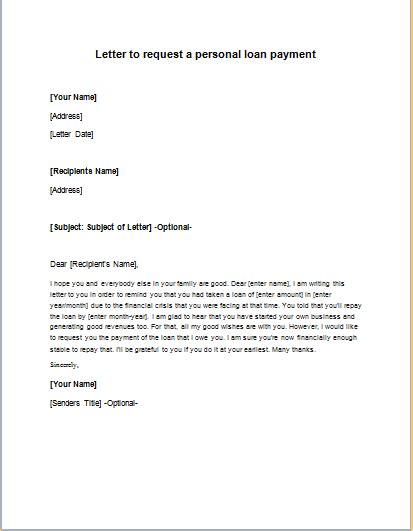 Loan Request Cover Letter Personal Loan Request Letter To Bank Cover Letter Templates