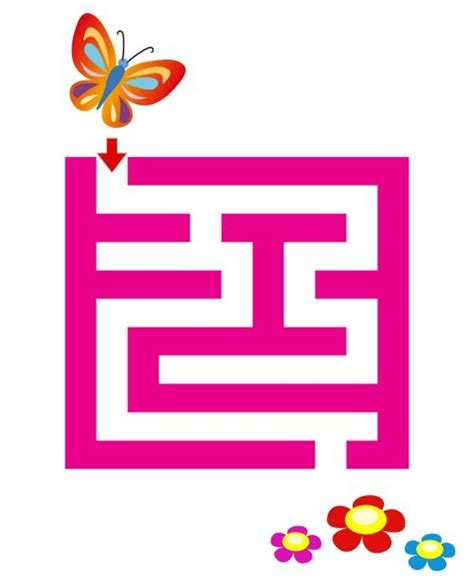 pattern to very simple game printable spring butterfly maze a very easy maze to