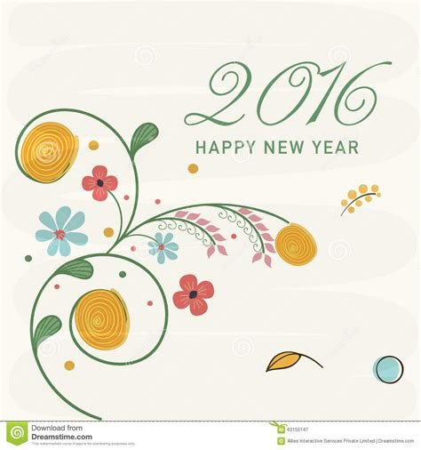 new year card design 2016 new year 2016 celebration greeting card design stock