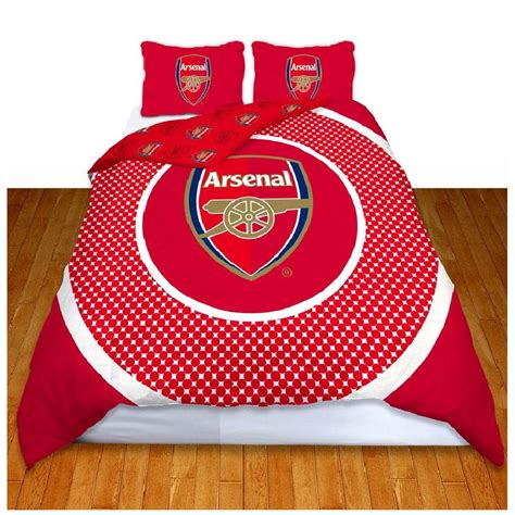 arsenal quilt cover arsenal fc single and double duvet cover sets bedroom