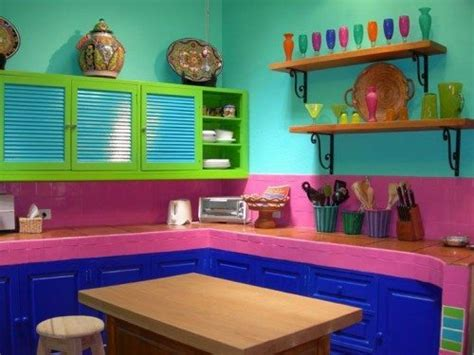 decorar cocinas estilo mexicano puro color