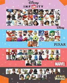 Infinity Characters List Disney Infinity 3 0 Character Checklist Version 1 By