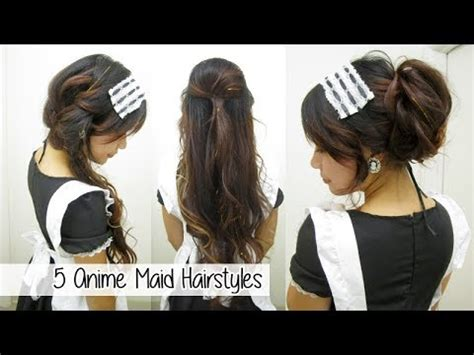 french maid hairstyles 5 anime maid hairstyles l quick cute easy hairstyles