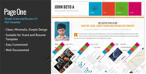 divergent personal vcard resume html template free page one simple vcard and resume cv template by wpamanuke themeforest