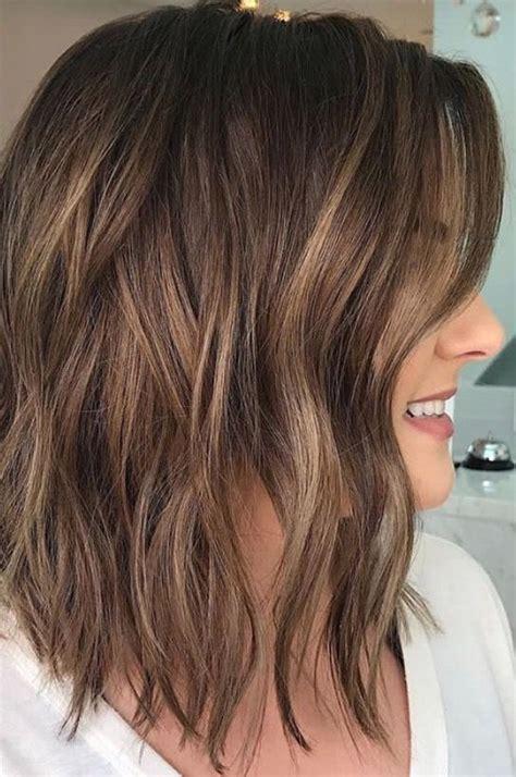 brunette light brown highlights balayage wavy brunette balayage wavy hair brown highlights long