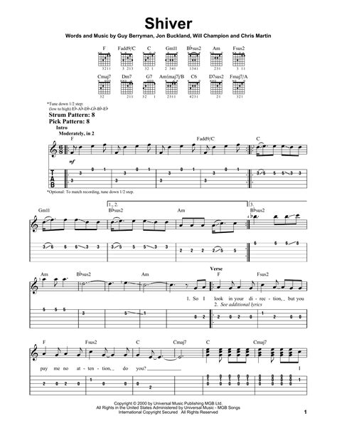 Shiver Guitar Chords