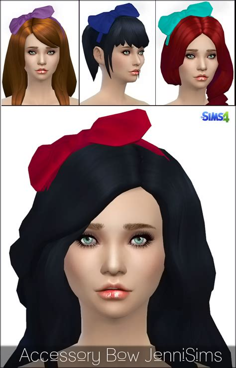 jennisims downloads sims 4 new mesh accessory sets bow jennisims downloads sims 4 new mesh accessory bow headband