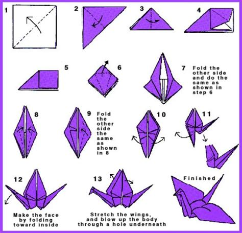 How To Make Origami Birds Step By Step - origami flapping crane step by step f f info 2017
