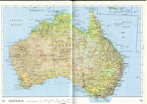 printable australian road maps large detailed relief and administrative map of australia