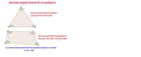 somma angoli interni di un poligono somma angoli interni di un poligono geogebra