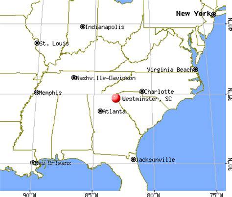 show me a map of carolina westminster south carolina sc 29693 profile population