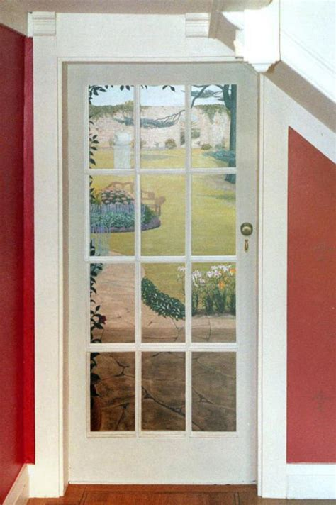 window strom door closer murals and trompe l oeil murals trompe l oeil