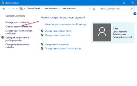 how to reset vista password with usb how to create password reset disk on usb drive in windows 10