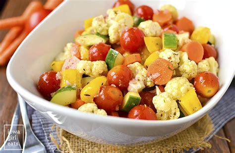 vegetables or salad marinated vegetable salad iowa eats