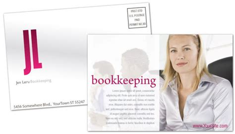 Free Template Business Cards For Bookkeeping Services by Postcard Template For Bookkeeping Accounting Order