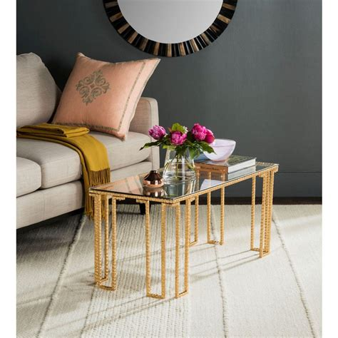 safavieh gold coffee table safavieh remus gold coffee table fox2587a the home depot