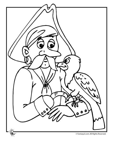 pittsburgh pirate parrot free coloring pages