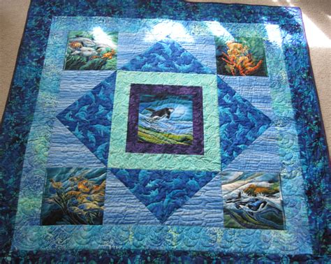 Patchwork Panels - pdf pattern panels medallion quilt using printed