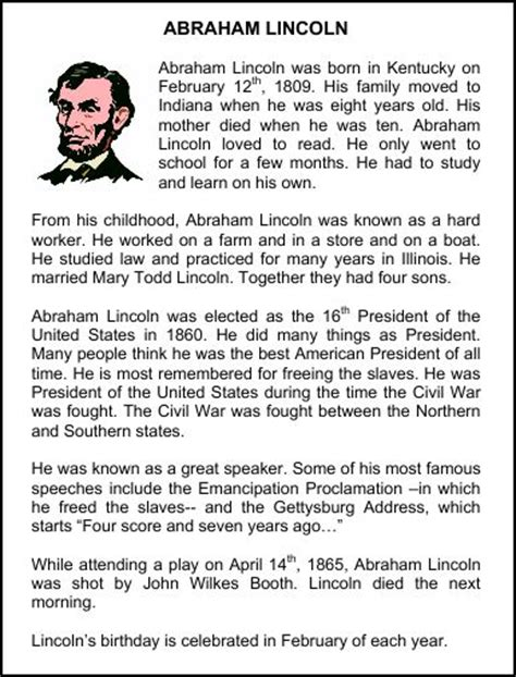 abraham lincoln biography first grade chsh teach abraham lincoln resources