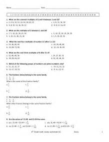 6th grade math review worksheet 1