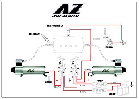 air compressor hook up diagrams air bag suspension air zenith wiring diagram 44 wiring
