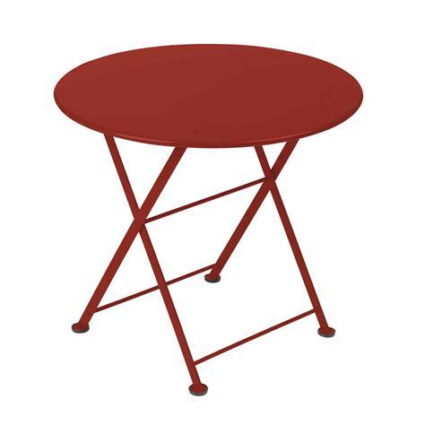 table de jardin en acier table de jardin ronde en acier 55cm tom pouce fermob port offert