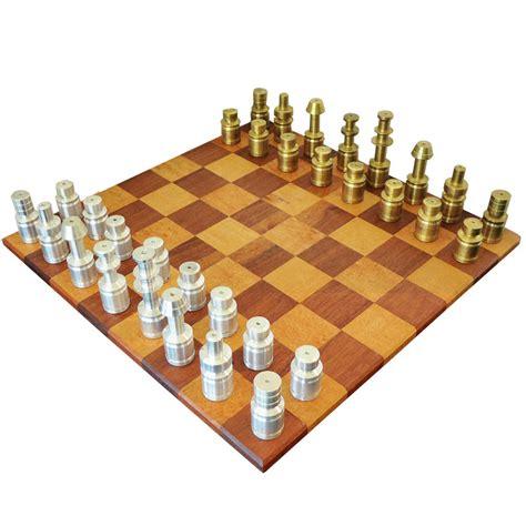 designer chess sets 1930 s hand lathed machine age chess set tftm melrose