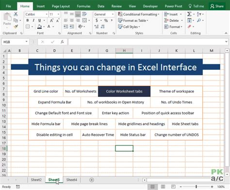 change themes in excel 15 default settings that you can change in excel