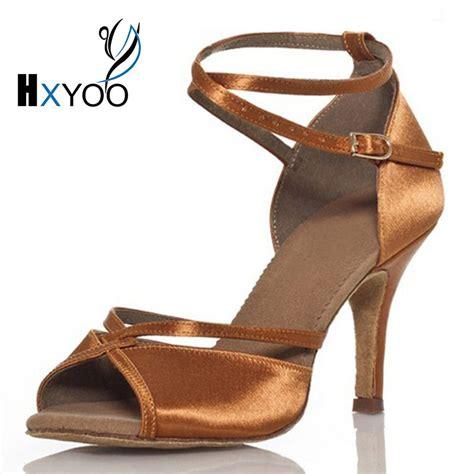 comfortable salsa shoes hxyoo customized peep toe ballroom latin dance shoes women