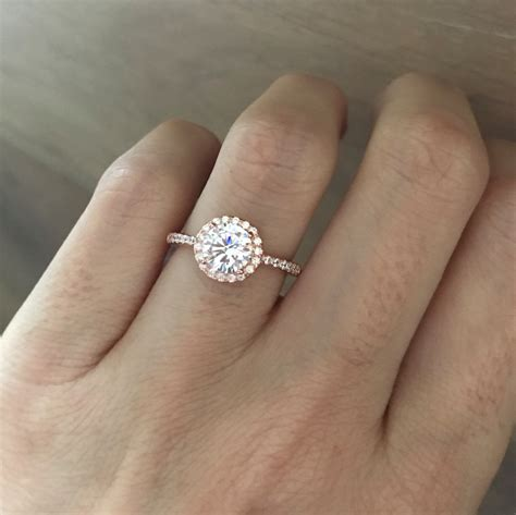 gold ring cubic zirconia engagement ring by belesas