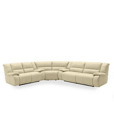 Franco Leather Reclining Sofa by Franco Leather 3 Power Reclining Sectional Sofa