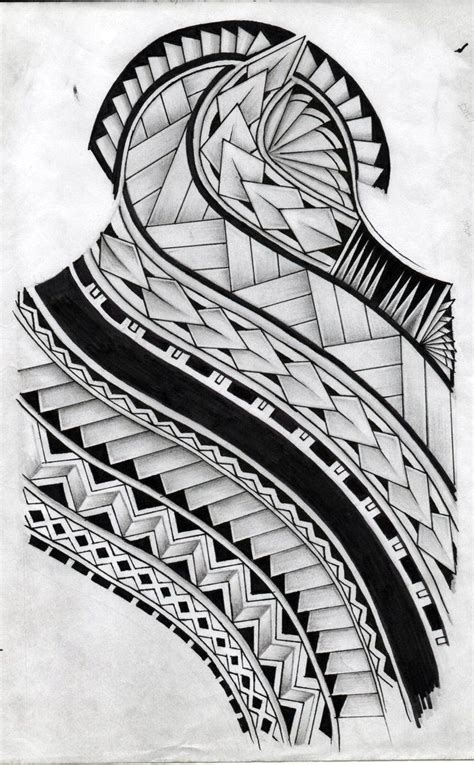 polynesian back tattoo designs pattern design by koxnas