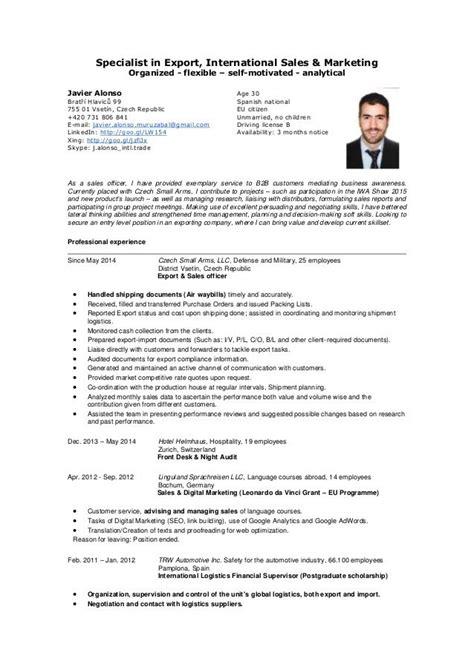 import export resume sle beautiful import export resume ideas exle resume