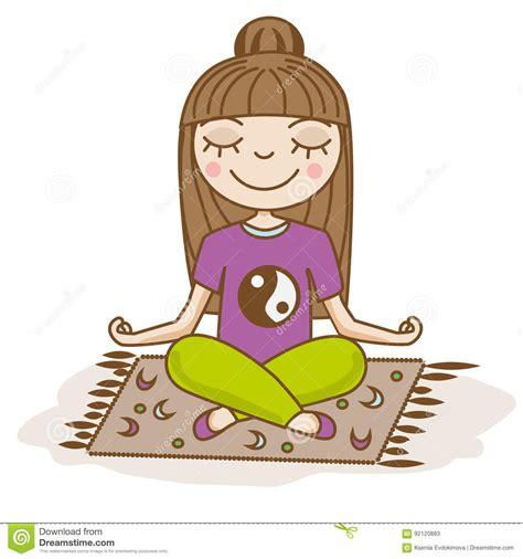 Calm Clipart meditation clipart calm person pencil and in color