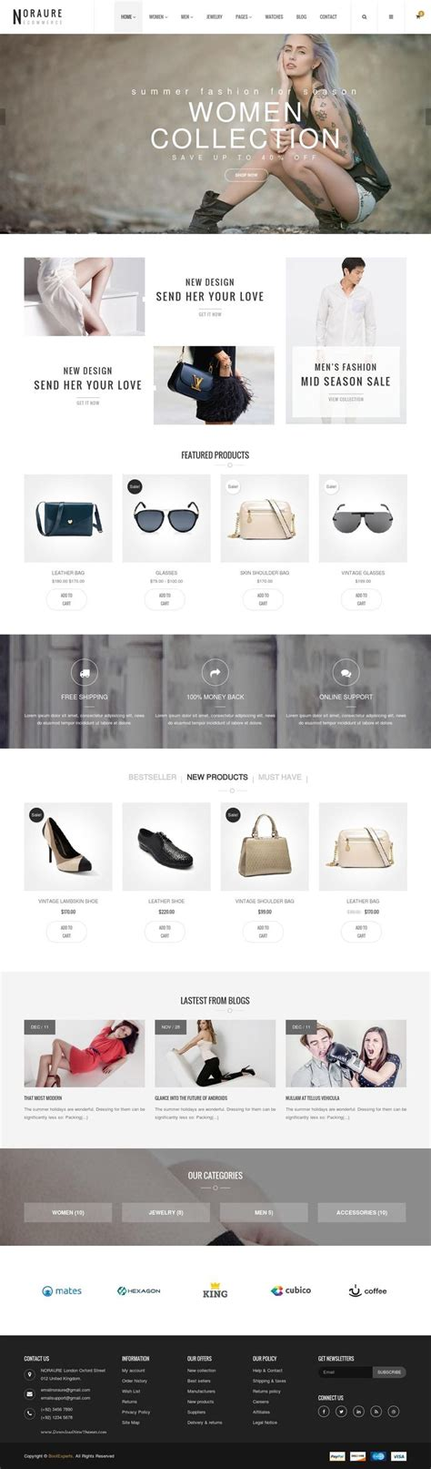 Noraure Mega Shop Bootstrap Template 웹디자인 및 영감 Mega Shop Template