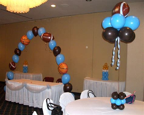sports themed decorations sports themed baby shower decorations best baby decoration