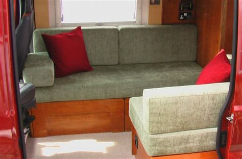 boat bench seats that fold into a bed deep red a self build motorhome beds seats