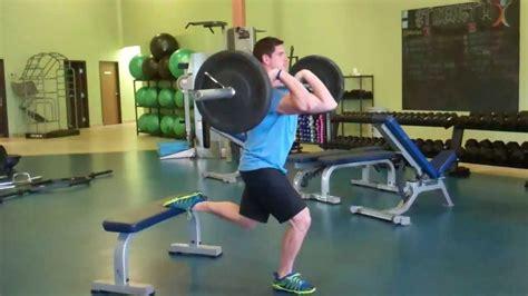 front rack 1 leg bulgarian split squat