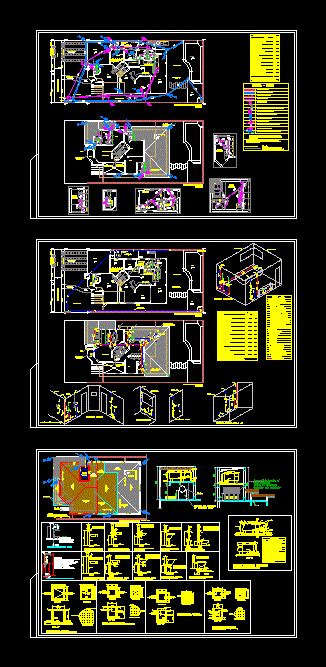 water installations dwg full project  autocad