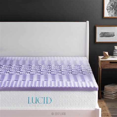 big bed pillows lucid 2 in king zoned lavender memory foam mattress
