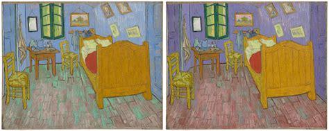vincent gogh the bedroom gogh s bedroom walls weren t always blue science