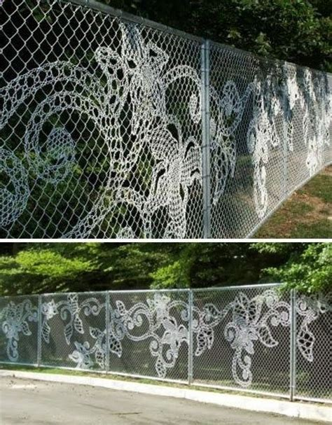 decorate chain link fence home