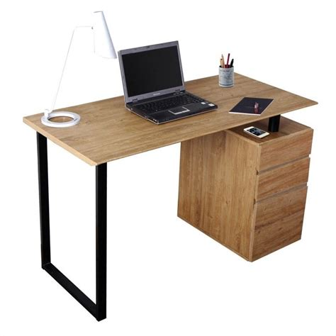 Computer Desk With File Cabinet Techni Mobili W Storage File Cabinet Pine Computer Desk Ebay